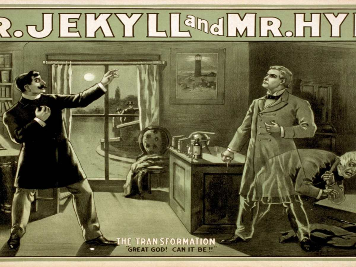 A historical illustration of the transformation of Dr Jekyll into Mr Hyde